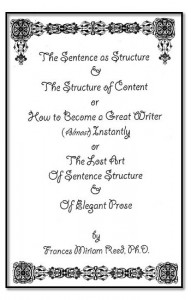 The Sentence as Structure